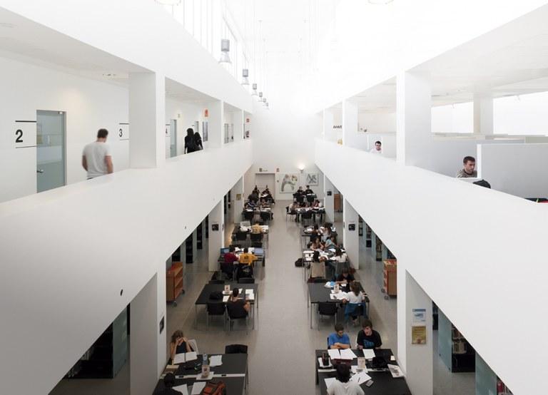 Sala de la Biblioteca Campus del Baix Llobregat, Castelldefels