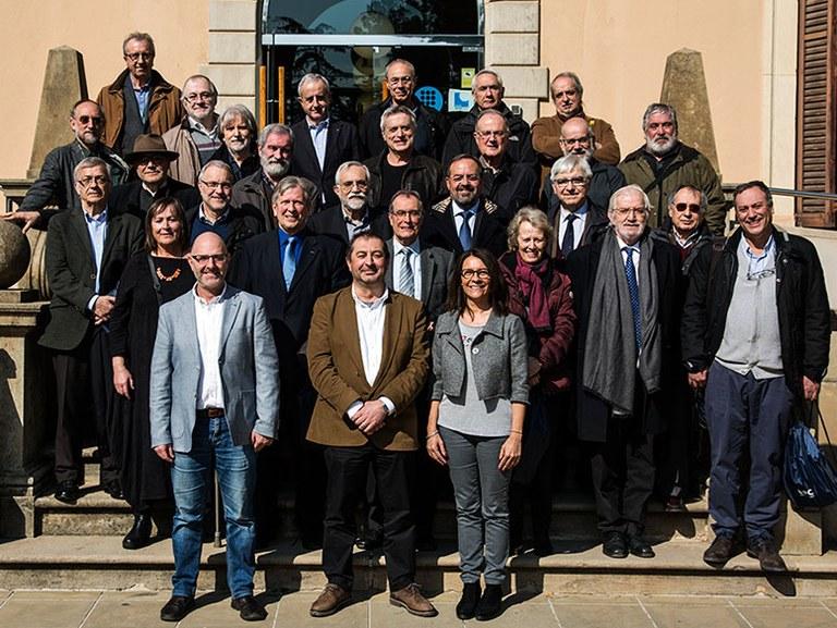 Imatge de grup del PDI jubilat el dia 1 de setembre de 2017