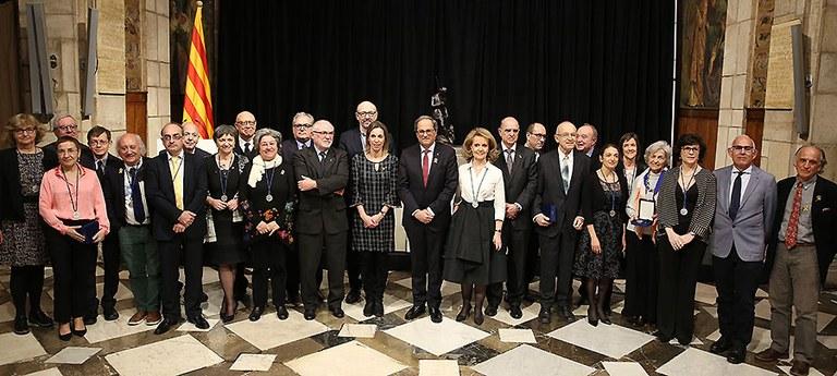 Distingits amb les Medalles i placa Narcís Monturiol 2018