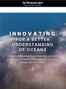 Innovating for a better understanding of oceans - The Washington Post