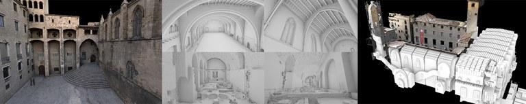 Aixecament TLS i fotogrametria en un projecte de gran escala: el Palau Reial Major de Barcelona (Saló del Tinell, Santa Agata, voltes romanes i places)