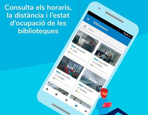 L'app UPC Estudiants permet veure, en una sola pantalla, els horaris, la distància i l'estat d'ocupació de les biblioteques