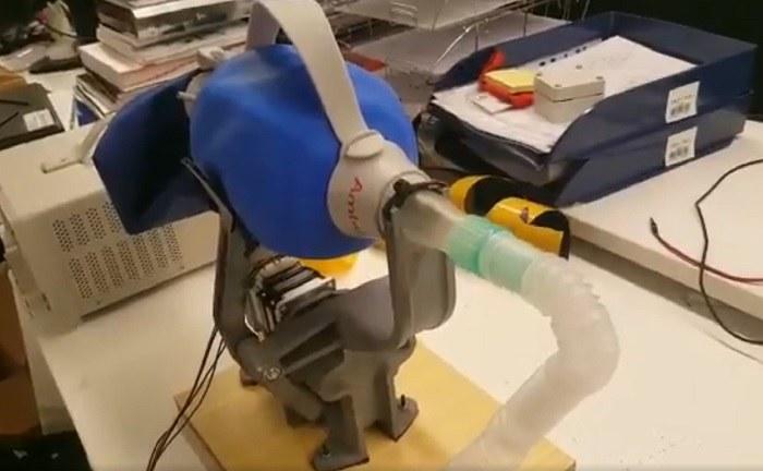 Respirador artificial fabricado con impresora 3D
