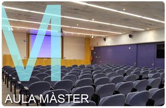 Imatge  de l'Aula Màster a la portada de benvinguda del web de Campus Nord.