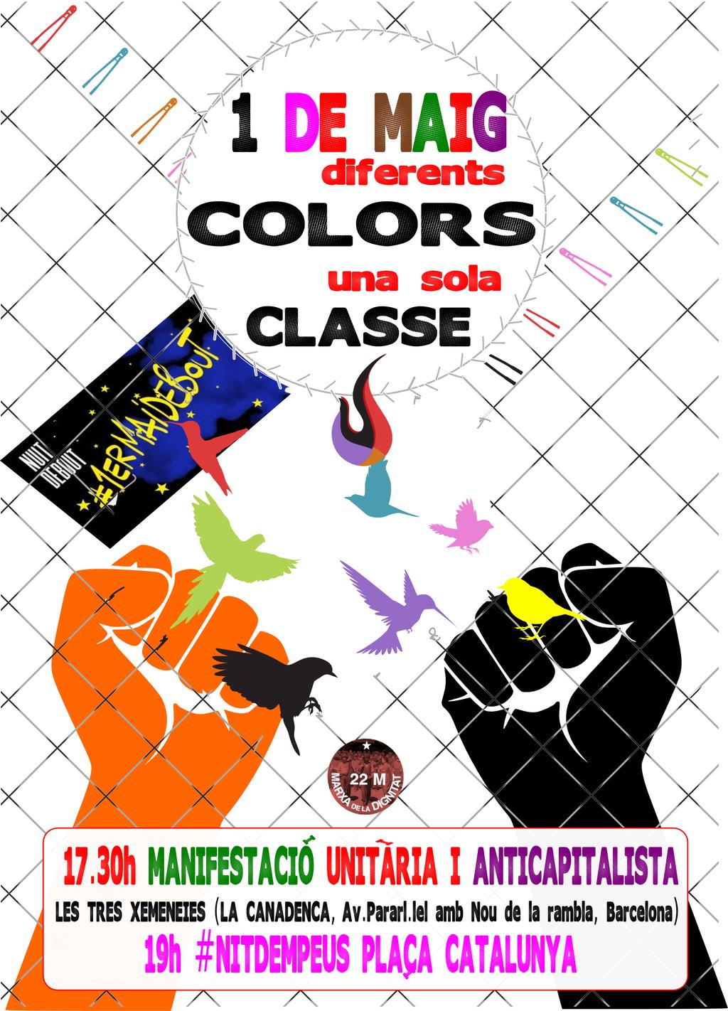 1 de Maig, Diferents colors una sola Classe.