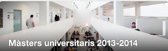Màsters universitaris 2013-2014