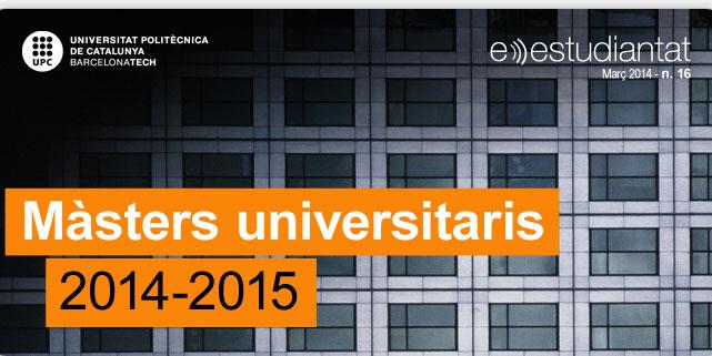 Màsters universitaris 2014-2015