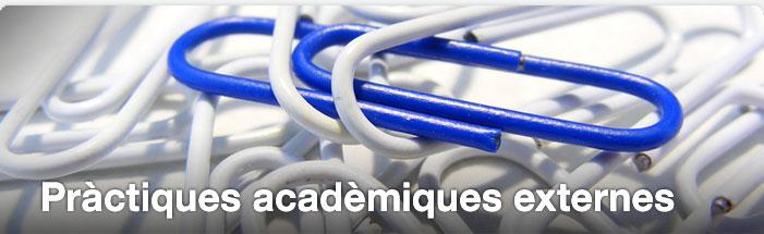 Pràctiques acadèmiques externes