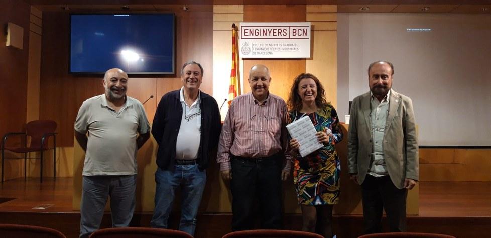 Laura Fontanet amb membres del <br>tribunal i organitzadors de la Jornada
