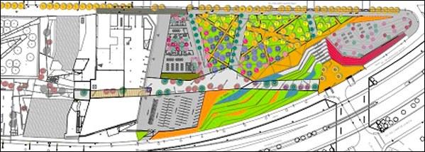 Parcel·la P1, en la qual es construirà el nou Parc del Campus Diagonal-Besòs de la UPC