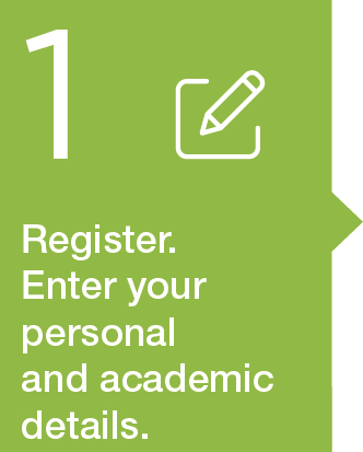 1. Register. Enter personal and academic data