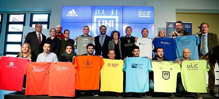 Foto de grup dels representants intitucionals de l'Unirun 2018
