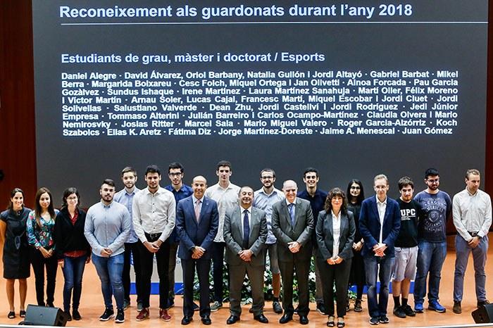 Premiados estudiantes de grado y master y estudiantes de doctorado 2018