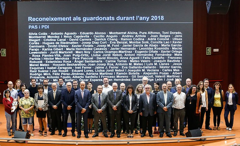 Premiados PAS y PDI 2018