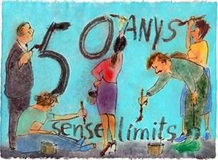 Dibuix dedicat als 50 anys de la UPC, obra de l'artista Perico Pastor