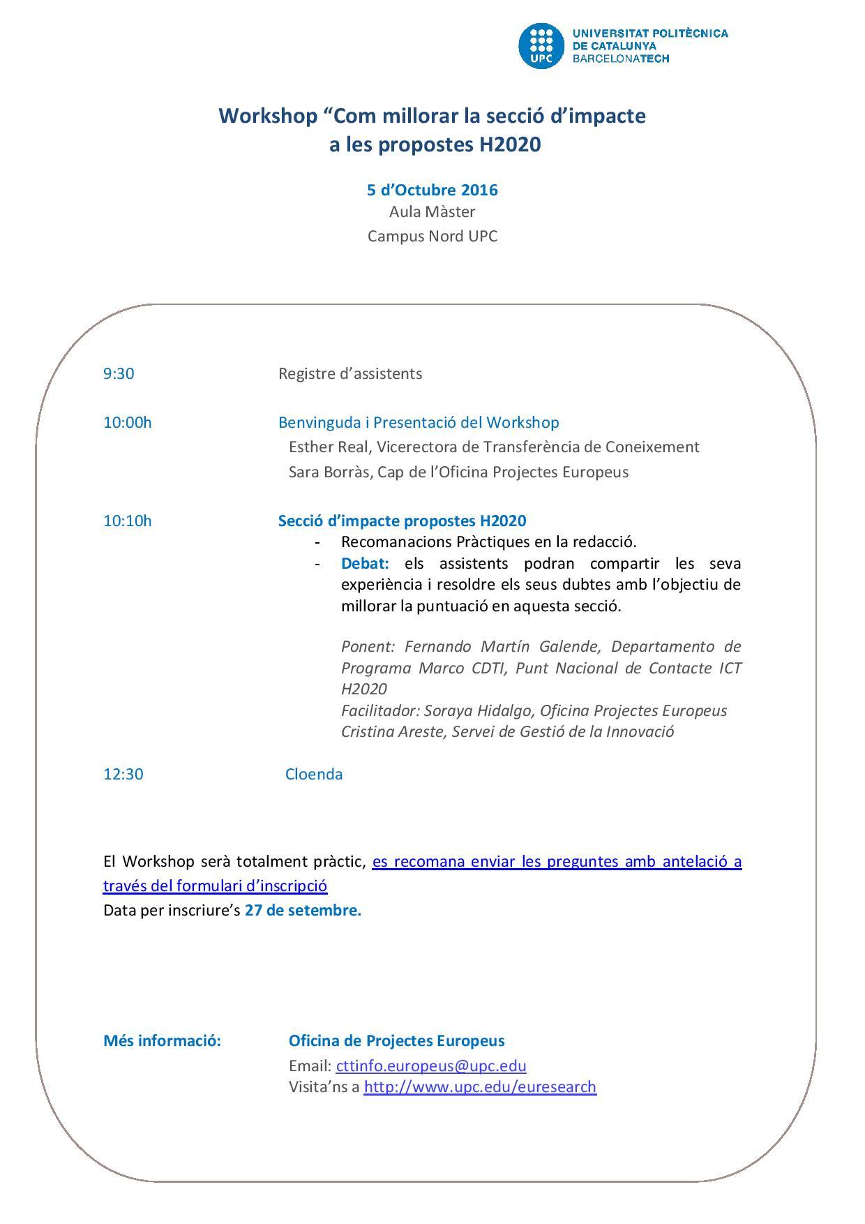 Impact workshop