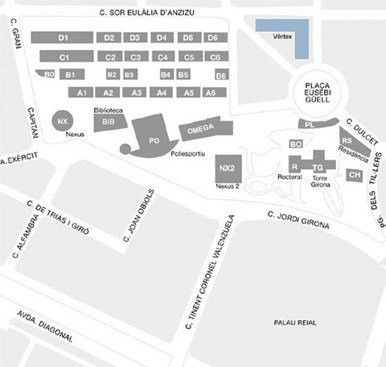 Mapa Campus Nord
