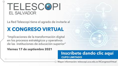 X Congreso Virtual de la xarxa Telescopi