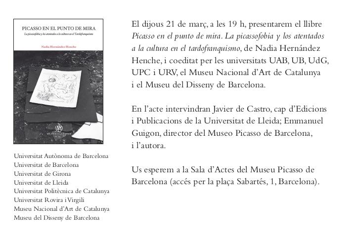 Presentació del llibre 'Picasso en el punto de mira'