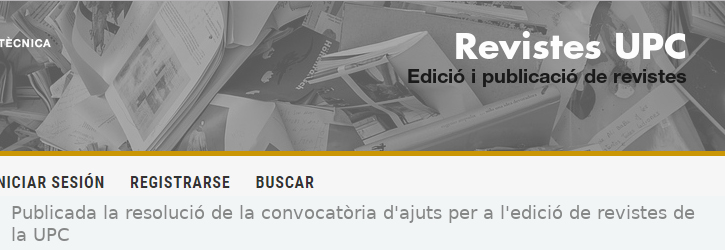Publicada la resolució de la convocatòria d'ajuts per a l'edició de revistes de la UPC