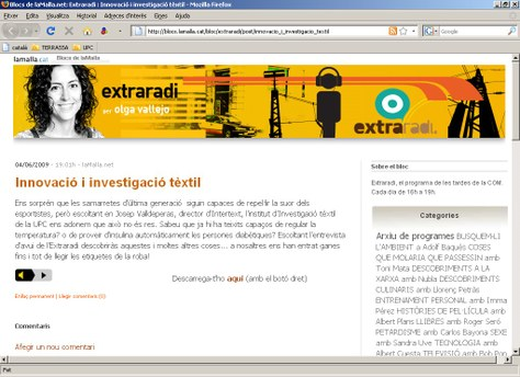 El Director de l'INTEXTER es entrevistat al programa Extraradi, de COMRadio