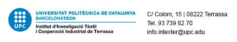 INTEXTER    Institut d'Investigació Tèxtil i Cooperació Industrial de Terrassa