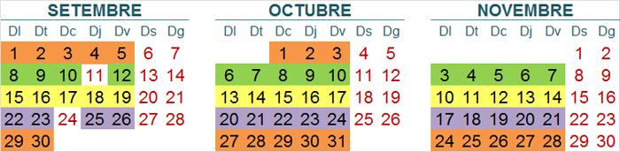 Calendari final resta centres ViPS