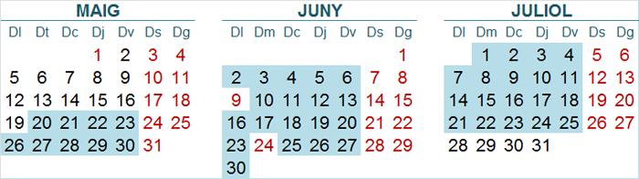 Calendari inicial ViPS Nord
