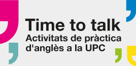 Time To Talk: activitats de pràctica informal d'anglès