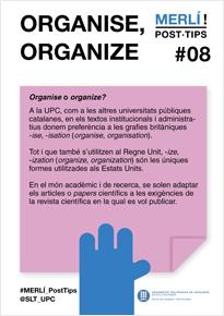 organise, organize