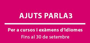 Ajuts PARLA3 per a cursos i exàmens d'idiomes