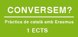 Pràctica de català amb un erasmus. 1 ECTS