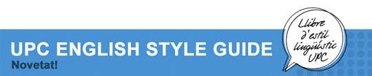 UPC English Style Guide