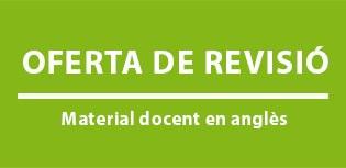Oferta de revisió de material docent en anglès