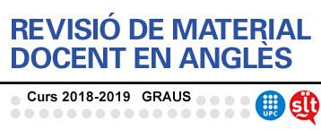 Revisió material docent en els graus 2018-2019