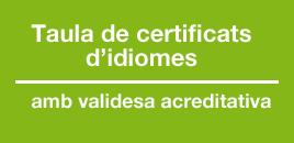 taula de certificats d'idiomes