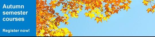 Autumn semester courses