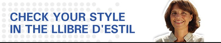 Check your style in the LLibre d'estil