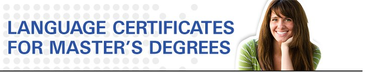 Language certificates for master's degree
