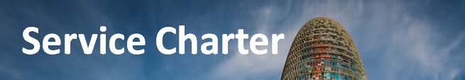 Service Charter, (open link in a new window)